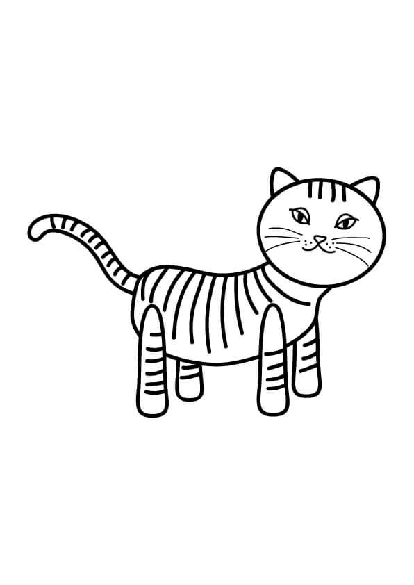 kot w paski rysunek do druku