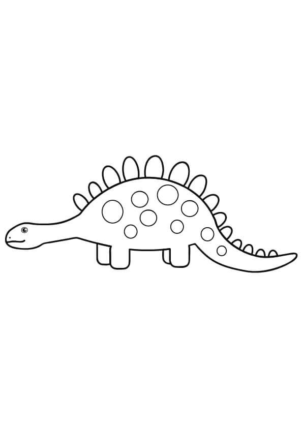 prosty rysunek dinozaura