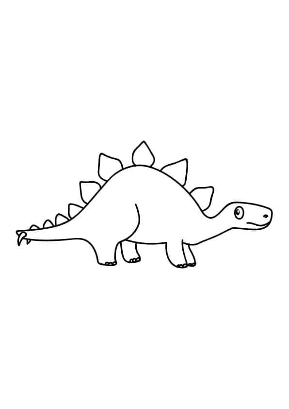 stegozaur dinozaur do kolorowania