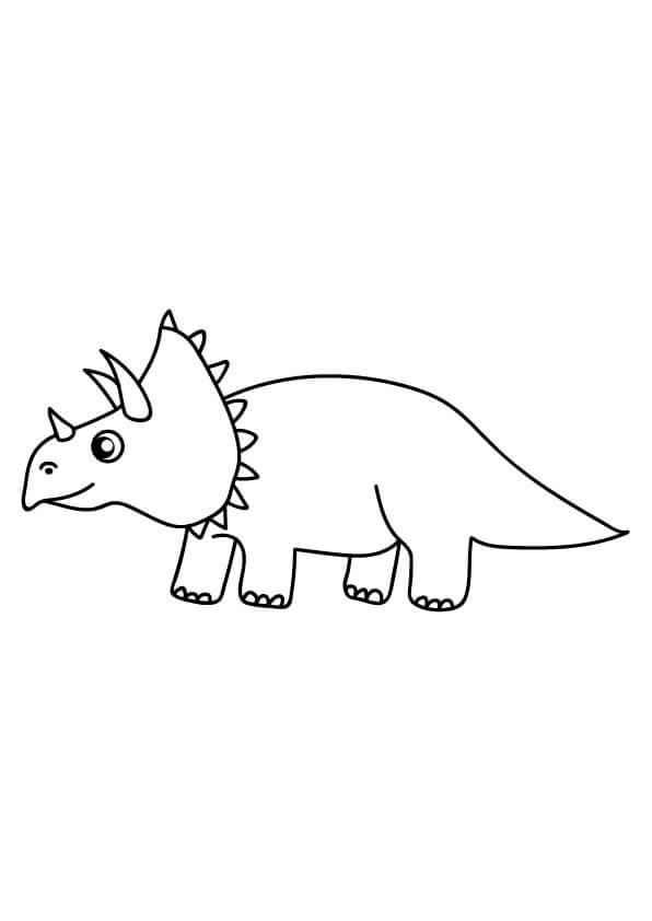 kolorowanki dinozaurów triceratops