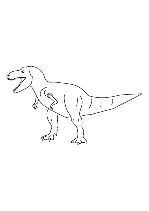rysunek tyranozaura do kolorowania