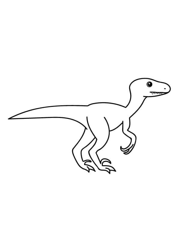 dinozaur velociraptor do kolorowania