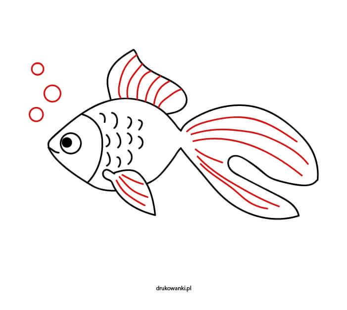 jak zrobić rysunek ryby