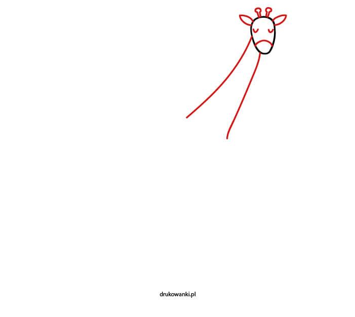 jak narysować żyrafę