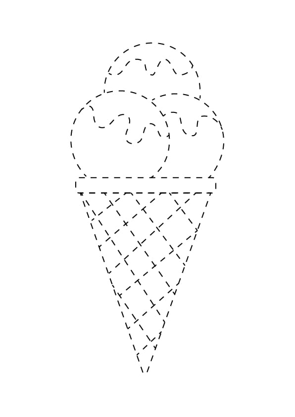 grafomotoryka lody