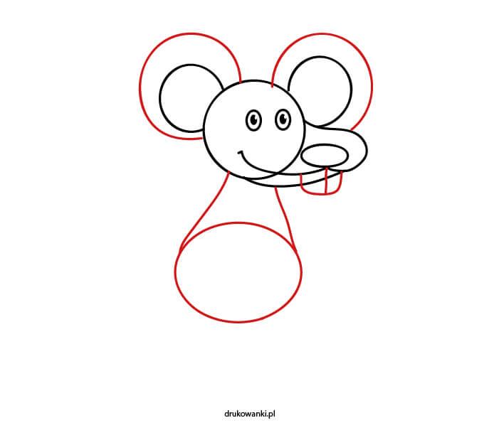 rysunek myszy dla dzieci