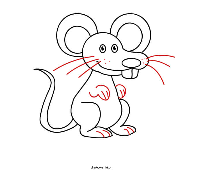 jak zrobić rysunek myszy