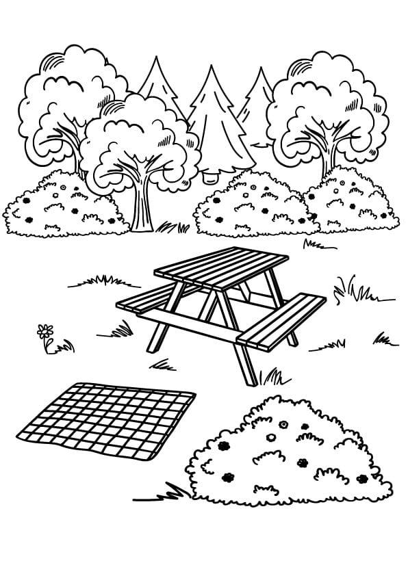 piknik kolorowanka na lato