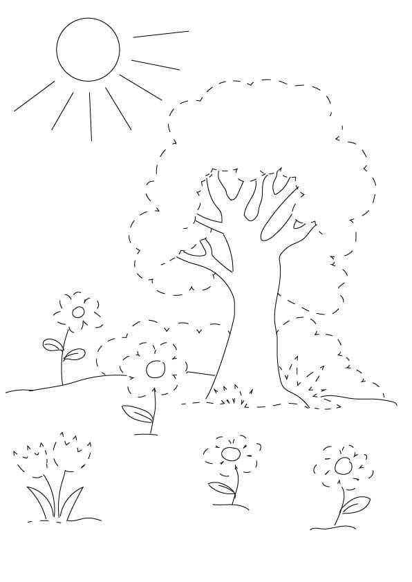rysunek po śladzie wiosna