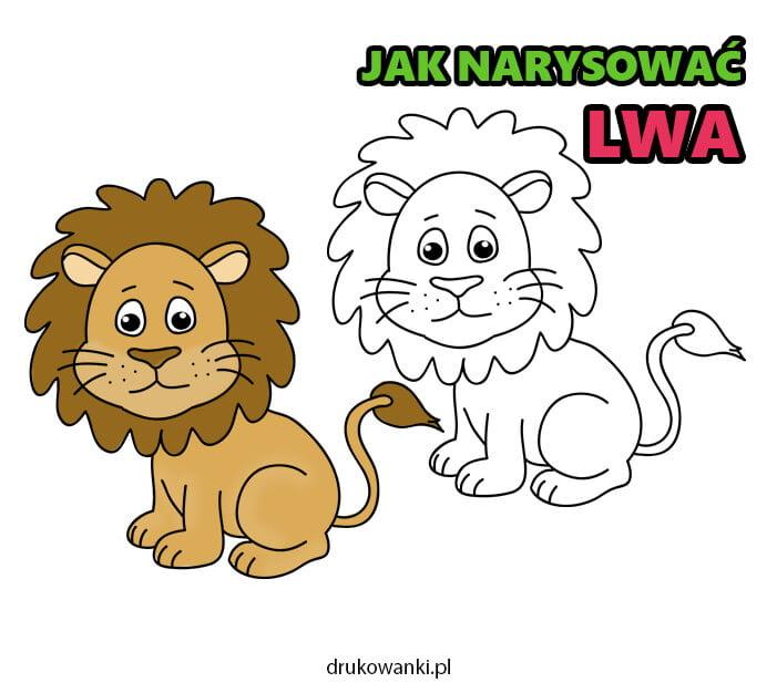 jak narysować lwa krok po kroku instrukcja