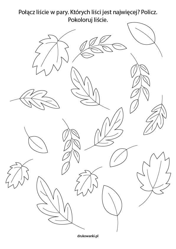 zadania dla dzieci na jesień
