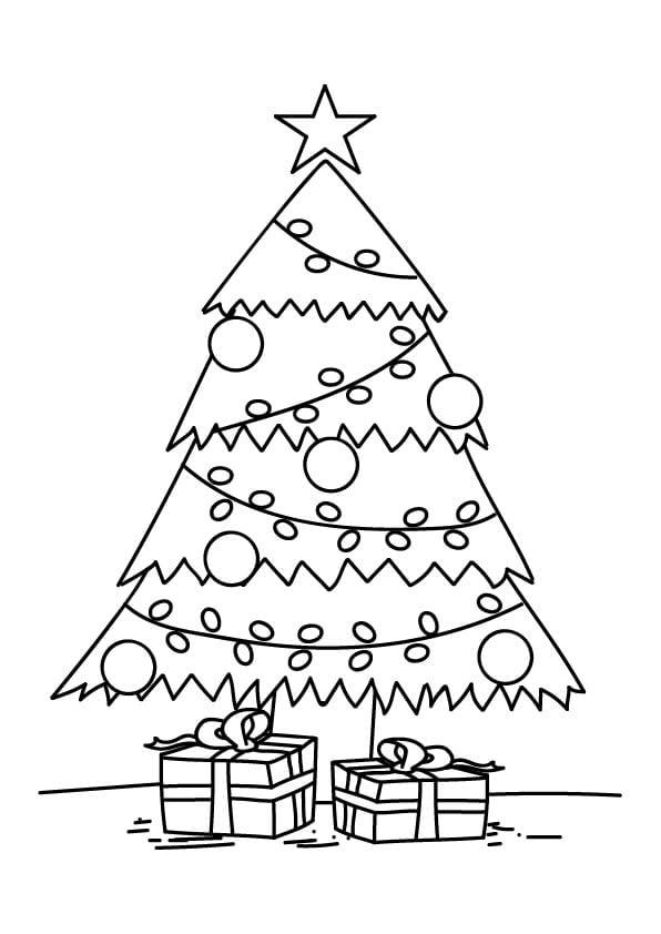 kolorowanki świąteczne choinka