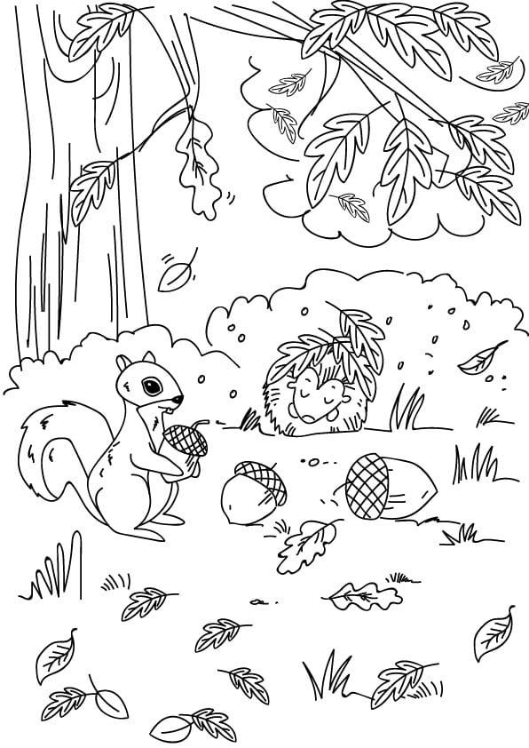 rysunki jesienne