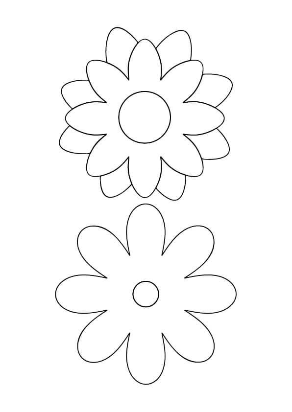 szablon kwiaty