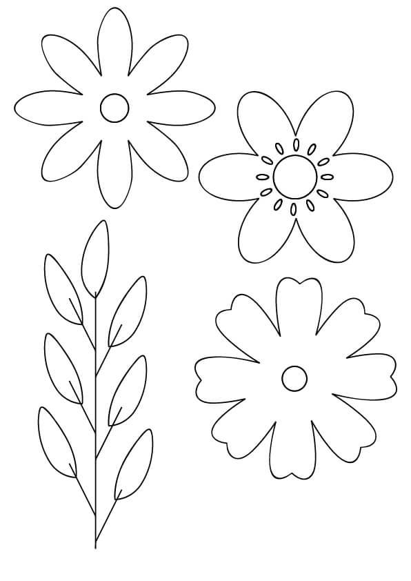 szablony kwiatów wiosennych