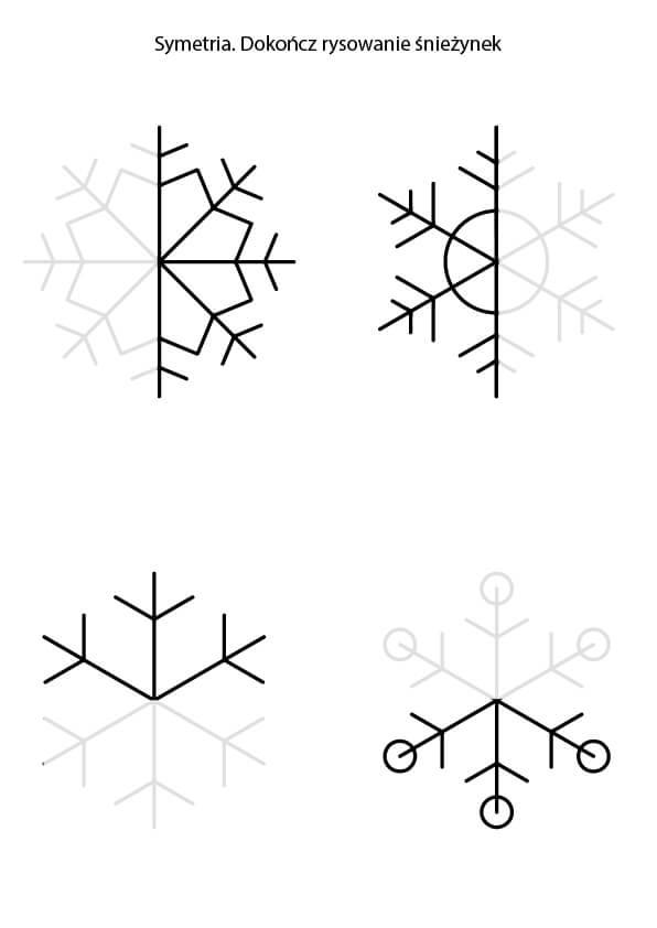 nauka symetrii dokończ rysunek